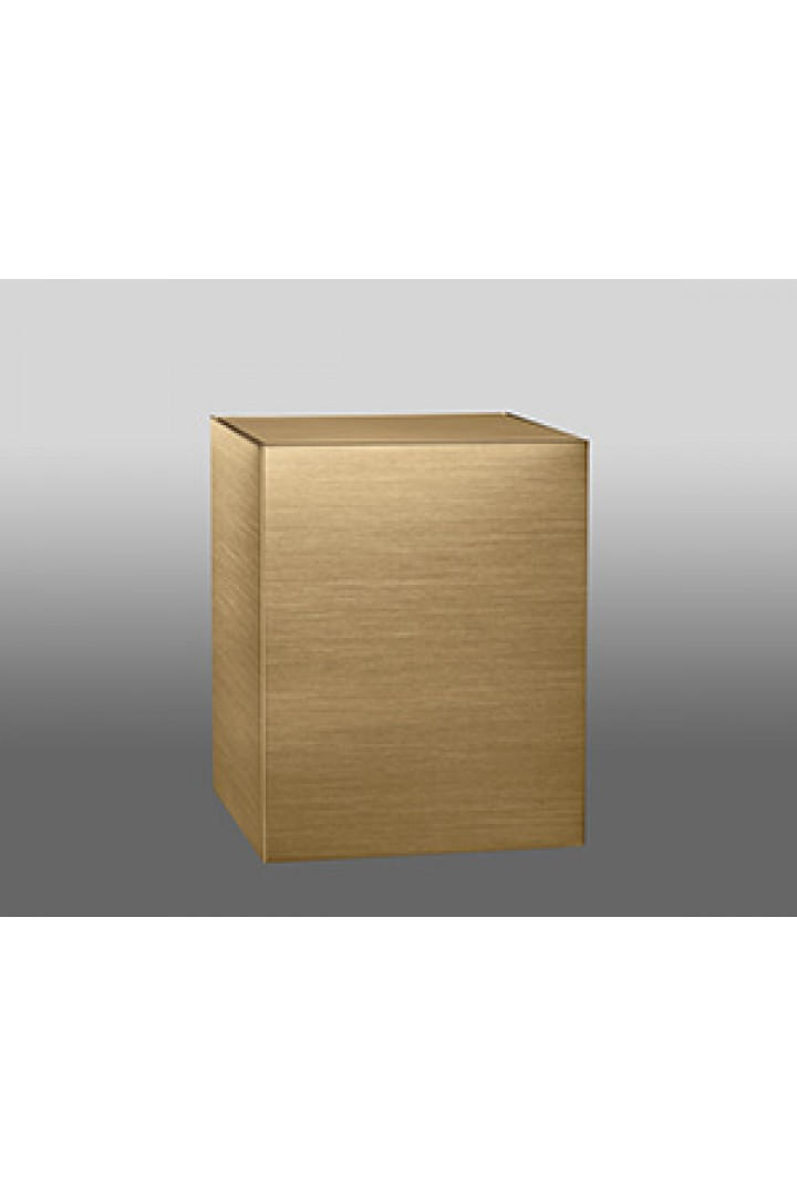Simplicity ~ Sheet Bronze Cube ~ Product #35-4000